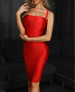 Alta Qualidade Red Backless Sexy Rayon Bandage Night Club Party Dress