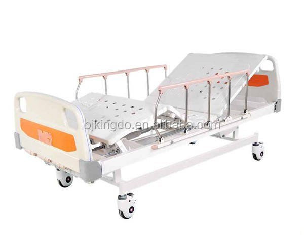 2 Cranks Manual Hospital bed with aluminam alloy side rails