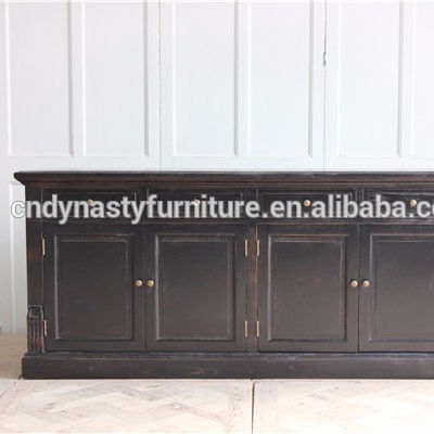 high quality kitchen furniture hand painted wooden sideboard