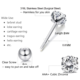 Jewelry Women's Stainless Steel Round Clear Cubic Zirconia Stud Earring