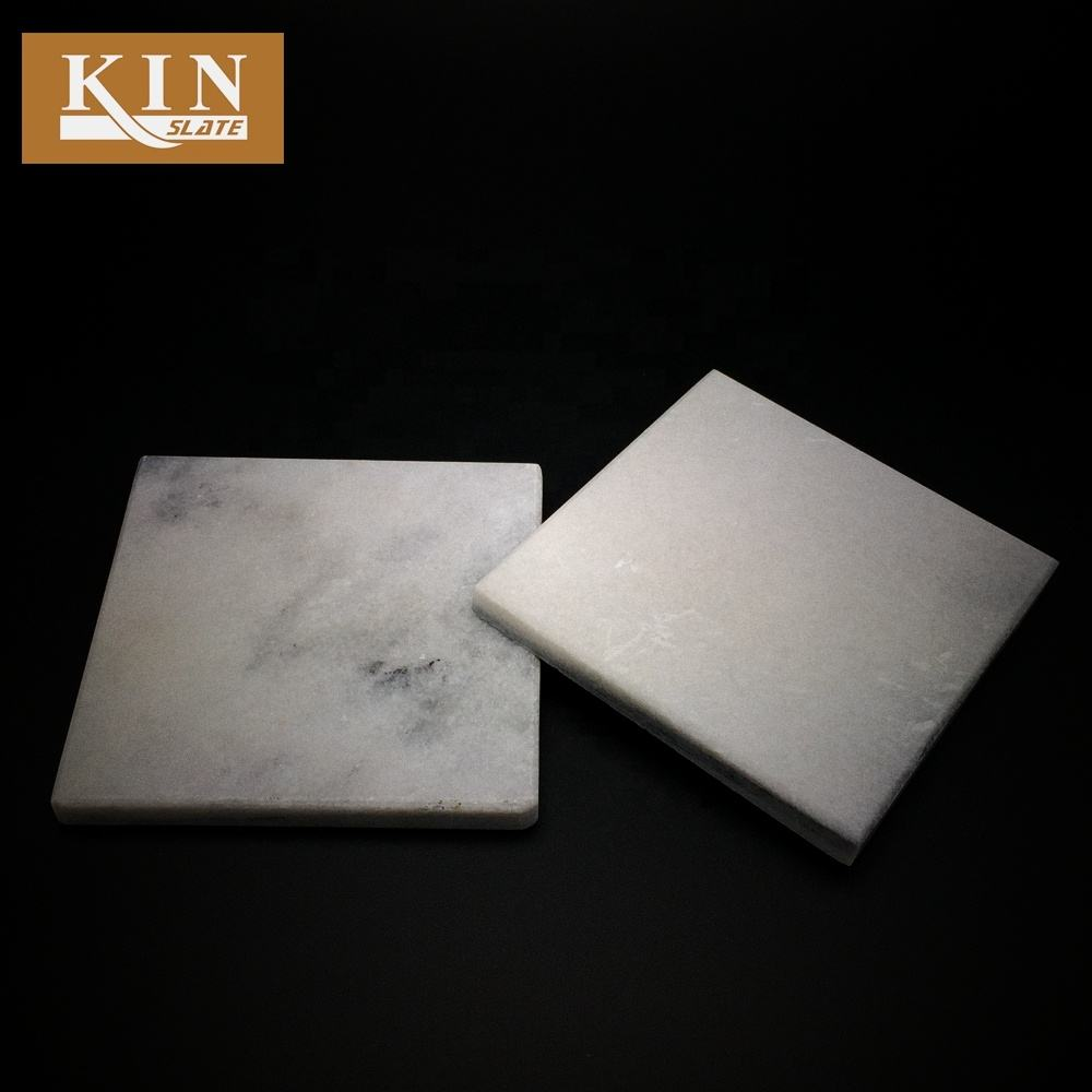 Good price marble white square made coaster