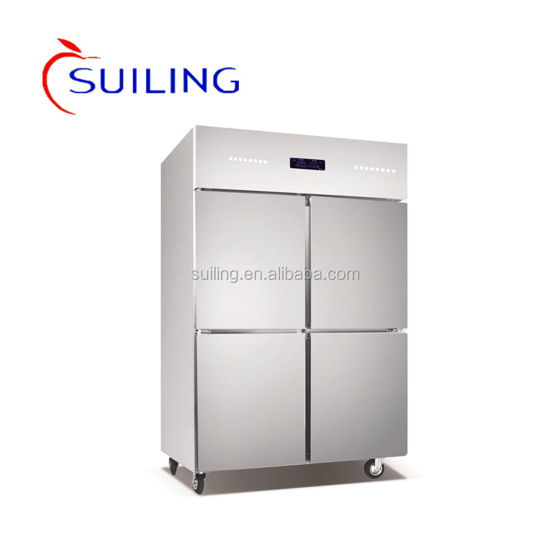 Suiling 1081 <span class=keywords><strong>4</strong></span> porte refrigeratore <span class=keywords><strong>frigorifero</strong></span> per cucina <span class=keywords><strong>commerciale</strong></span> in acciaio inox U12R4S