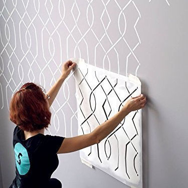big stencil Reusable Plastic Semi-Transparent Large Size Wall Stencil for Paint,stencil wall painting
