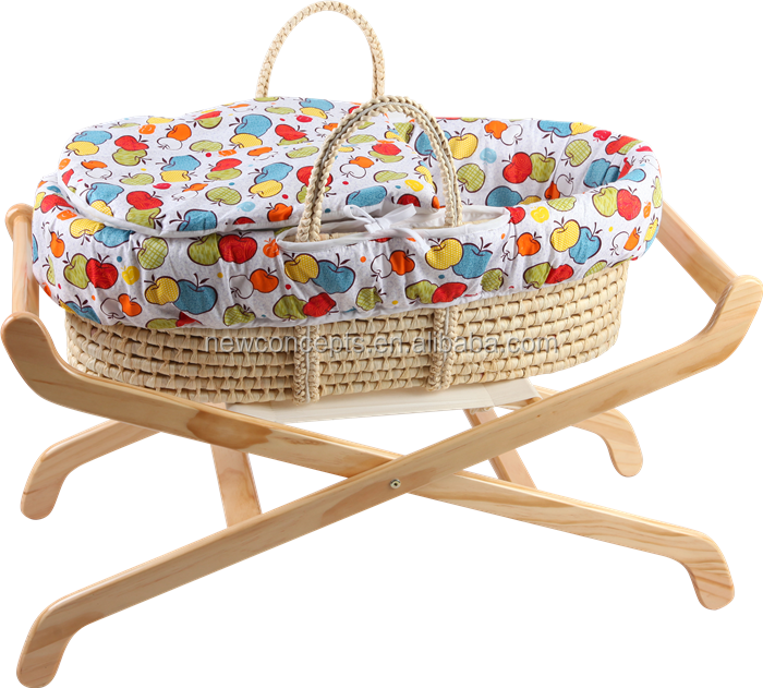 wholesale baby bassinet baskets corn husk hand-woven moses basket