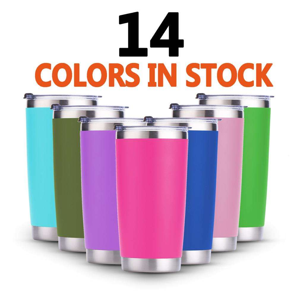 20oz Customizable 20 oz Vacuum Insulated Tumbler Stainless Steel Double Wall Tumbler Keep Drinks Cold or Hot for Several Hours