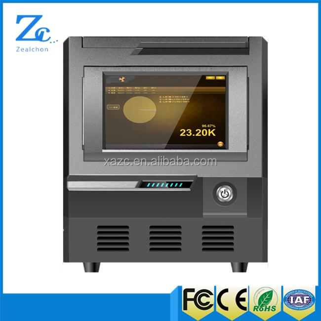 EXF9630 Si-Pin xrf máquina de prueba de pureza de oro electrónico portátil con una mayor precisión del 0.01