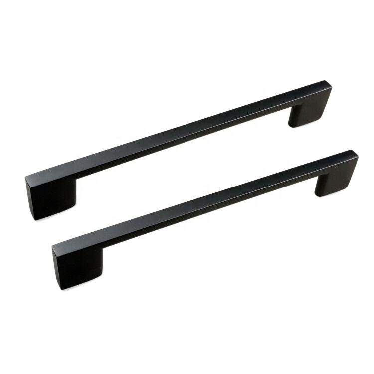 Drawer matt Black aluminium for kitchen cabinets door pull handle