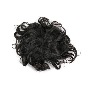 Full pu toupee,toupee indian human hair,mens frontal hair piece