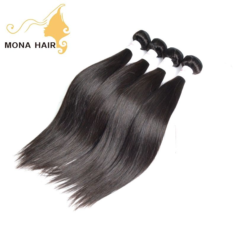 Accept private label packaging wholesale human hair extension straight