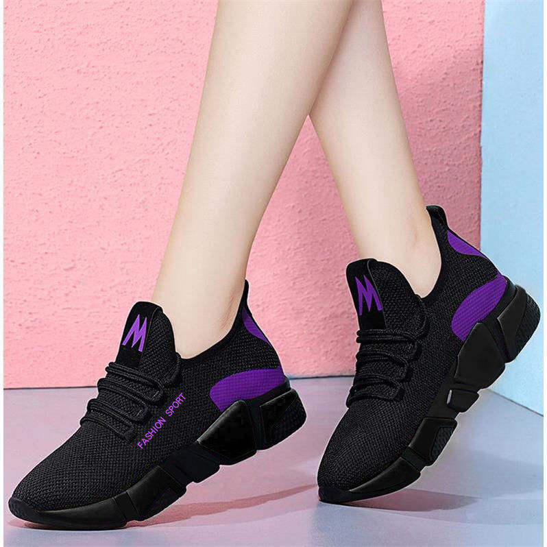 Spring Woman Shoes Freely Lace-up Ladies Sneakers