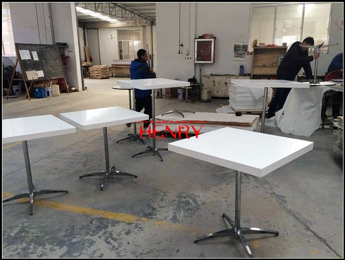 Solid Surface Restaurant Table Dinner Table Fast Food Table