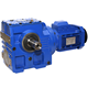 High quality Splined hollow shaft S series worm gear motor electric motor reduction gearbox comer gear box transmission