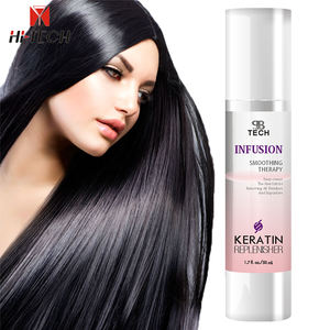 Non Greasy shiny Keratin repair replenisher Leave in hair conditioner hair serum for Hair Split Ends