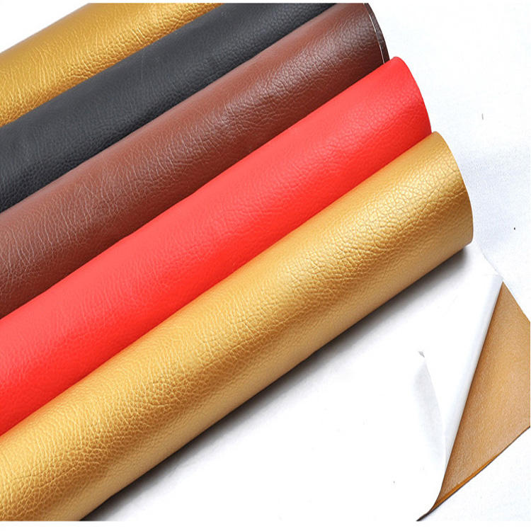 Soft litchi pattern artifical self adhesive leather for car seat sofa