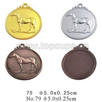 Low MOQ Horse metal medal souvenir with factory price