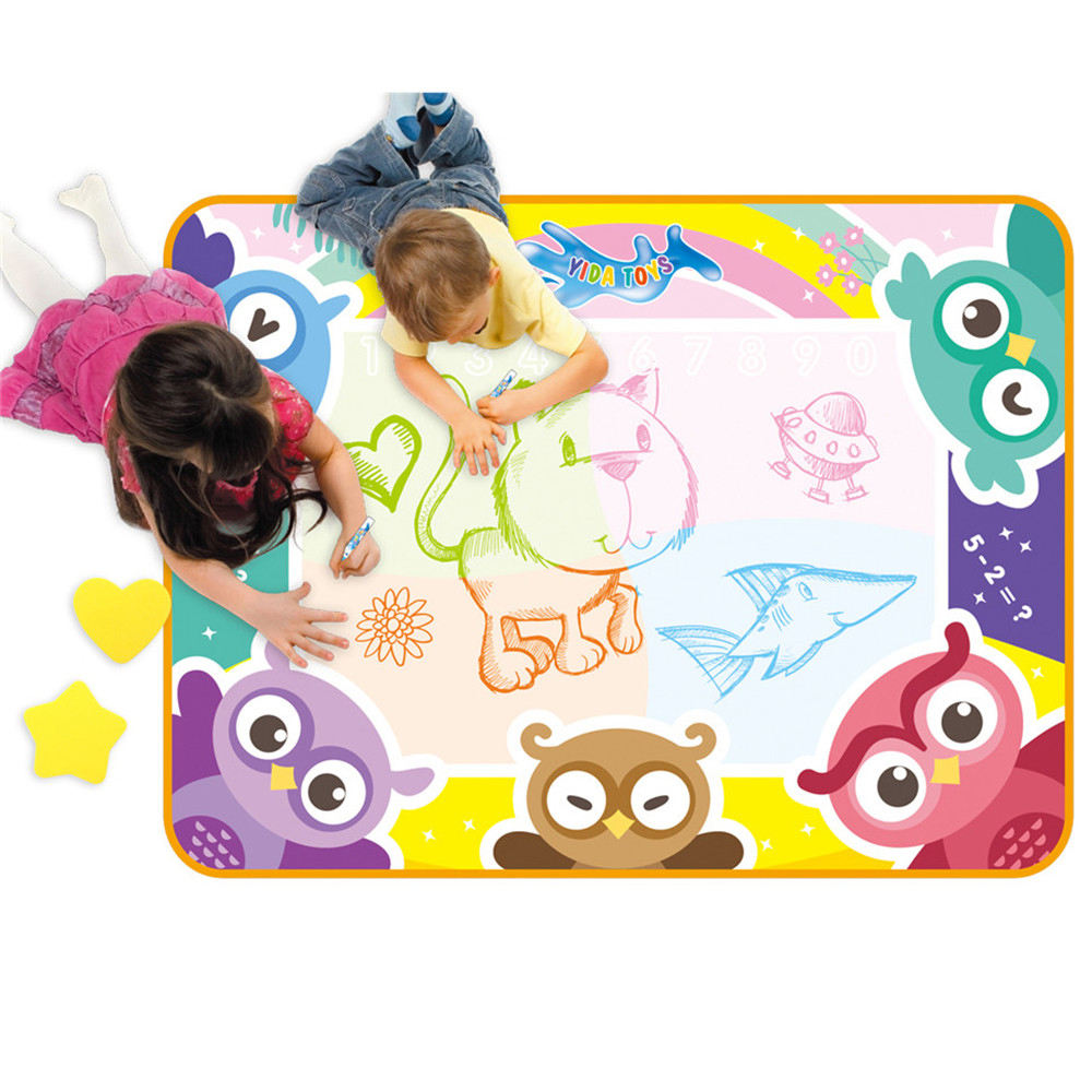 Early childhood education practice painting drawing kids magic water dool aqua mat