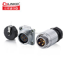 CNLINKO 4 pin metal auto electrical wire plugs and socket automotive male plug and female receptacle connector Waterproof