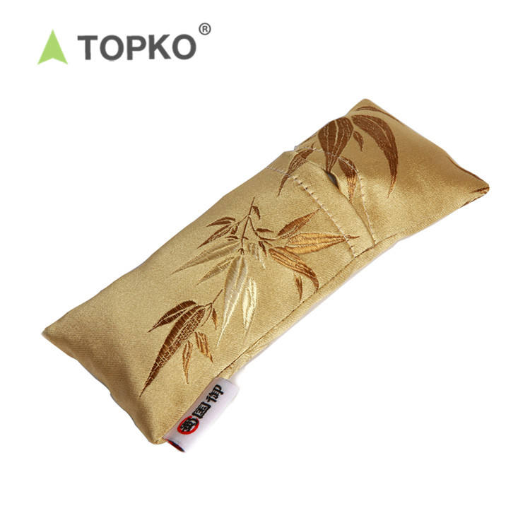 TOPKO Soft Soothing silk Natural Lavender seed Yoga Eye Pillow
