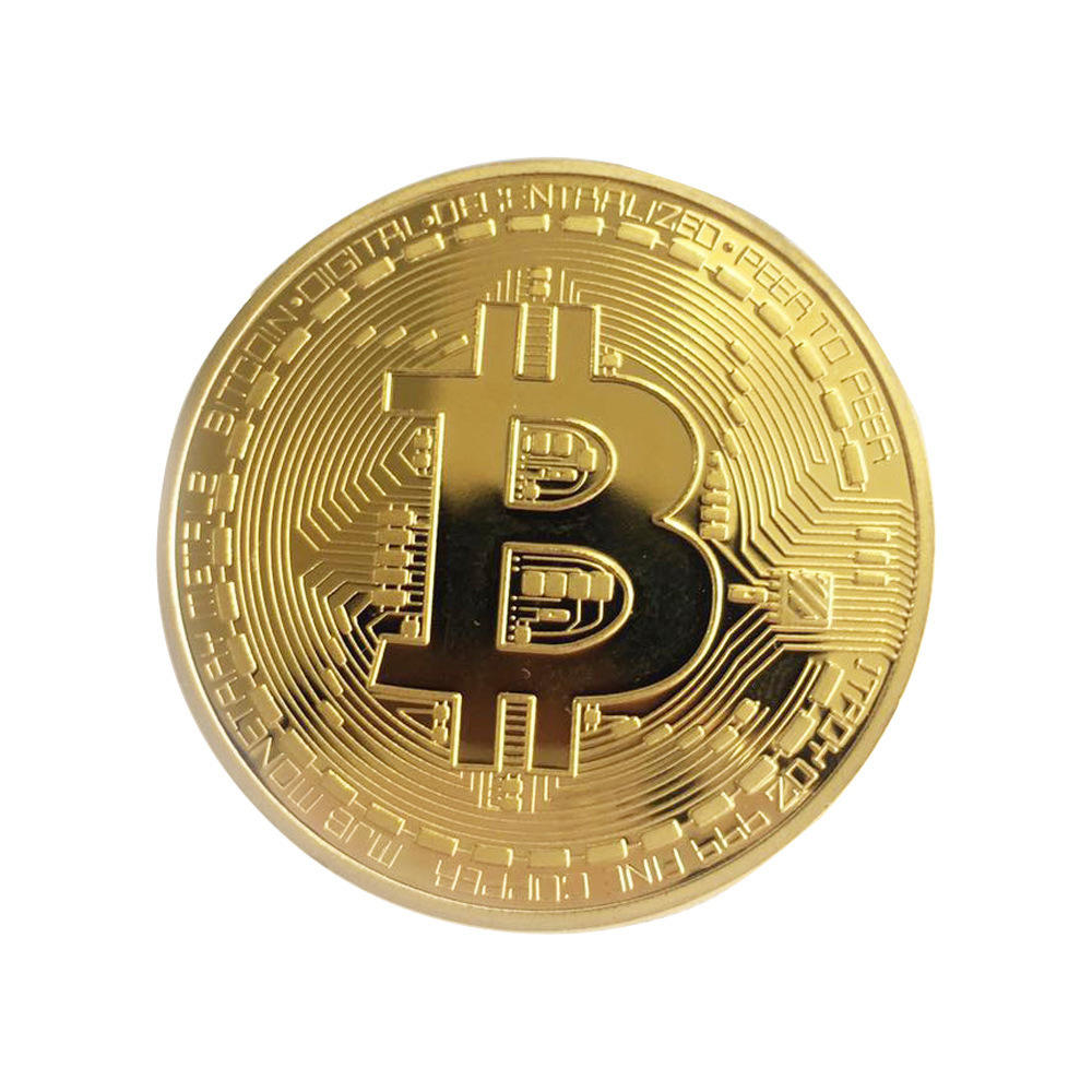 Wholesale Gold Plated Bitcoin Bit Cryptocurrency Coin For Souvenir