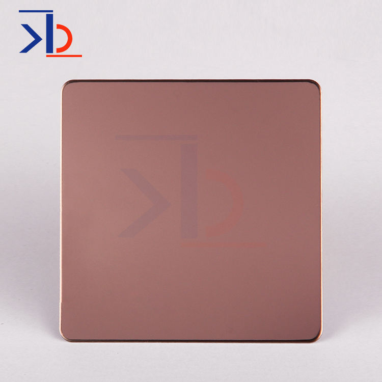 Aisi SS Plate 304 Sheets Stainless Steel 4X8 Mirror Finish Process Sheets Rose Gold Color Sheet