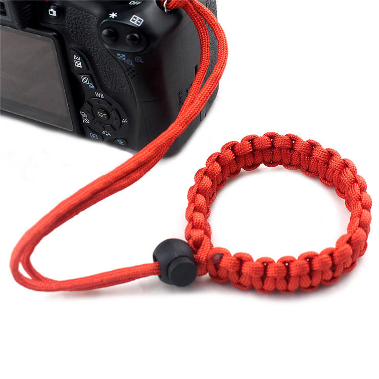Fashion polyester custom paracord lanyard rope camera strap manufacturer