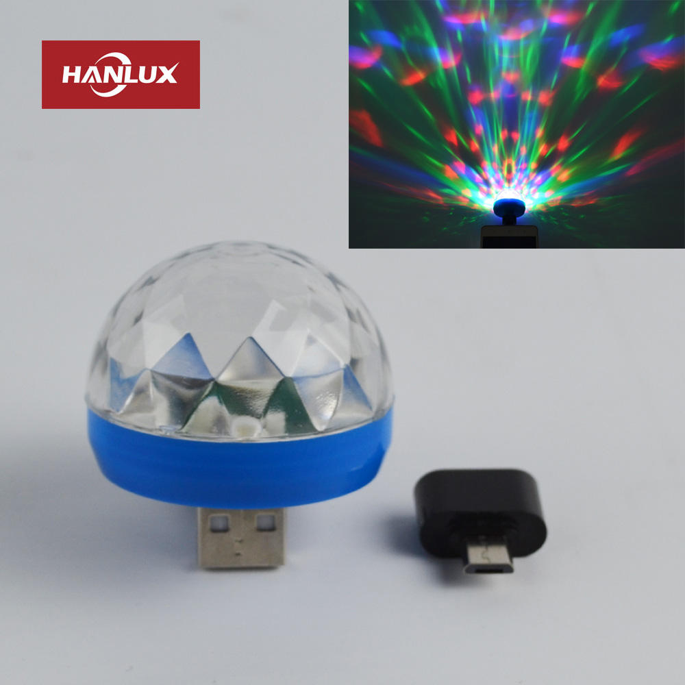 USB Party Lights Mini Disco Ball,Led Small Magic Ball Sound Control DJ Stage Light RGB Lamp For Decorations,suitable for mobile