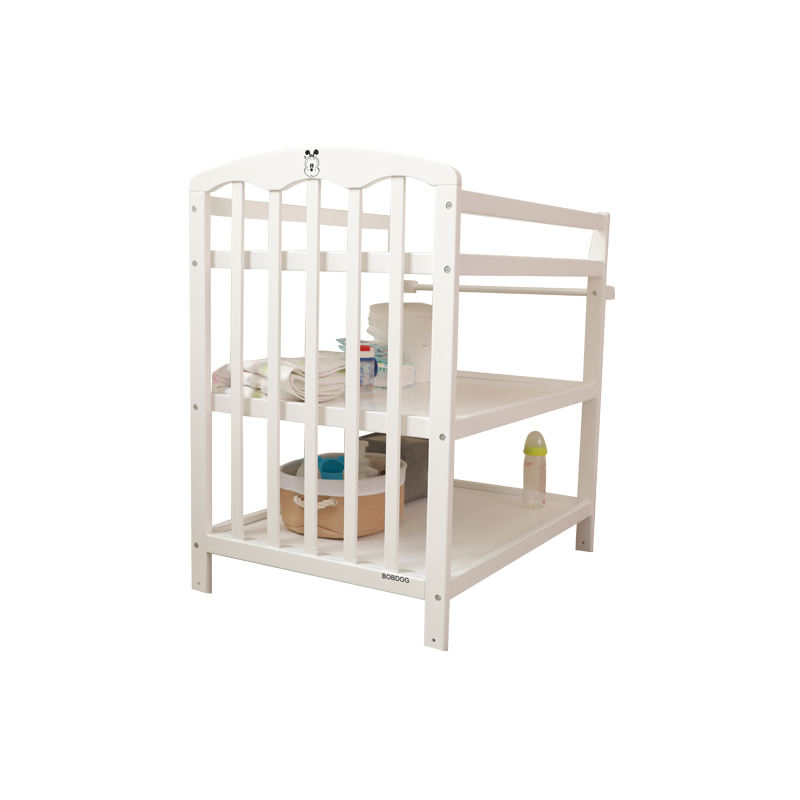 Customized Folding Baby Changing Table Crib With Pad For Baby Massage