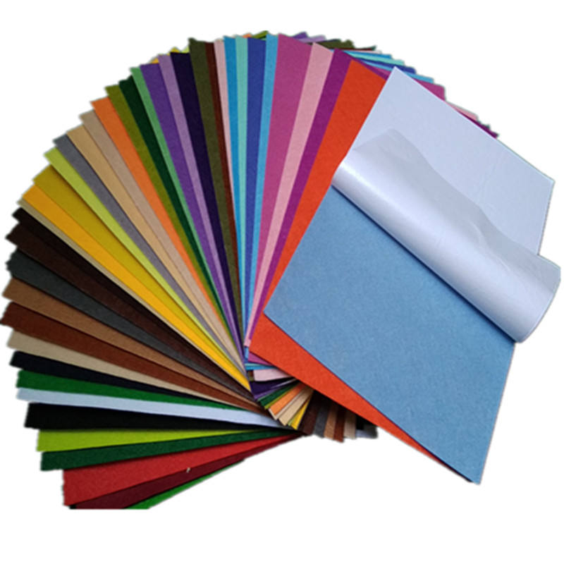 self adhesive hard felt with around 40 colors assorted/pack