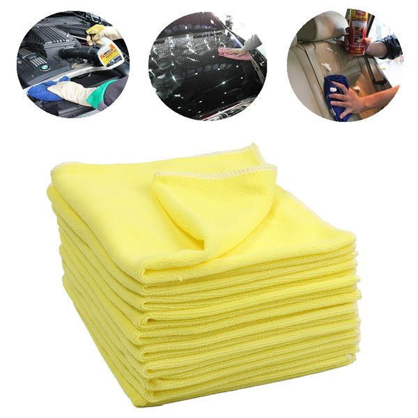 Private Label Car Wash Microfibre Towel 40x40 Car Microfiber