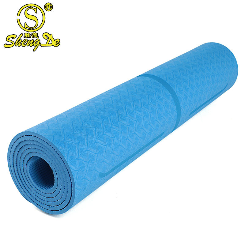 New Products Gymnastic Supplies Eco-friendly 100% TPE yoga mat 8mm