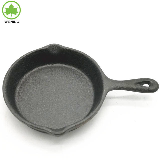 3.5 Inch Cast Iron Mini Skillet. Miniature Skillet for Individual Meal Use or Desserts