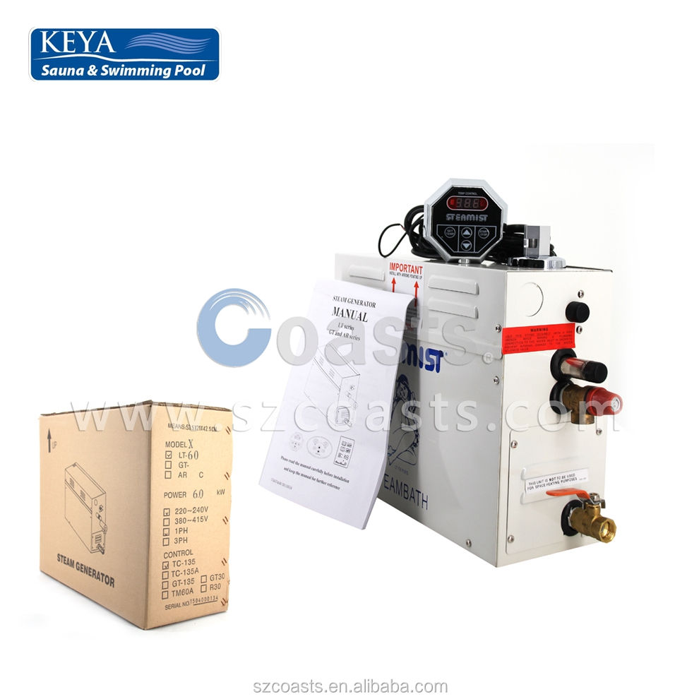 KSA Series 7kw steam generator with KS-200A Controller on hot sale