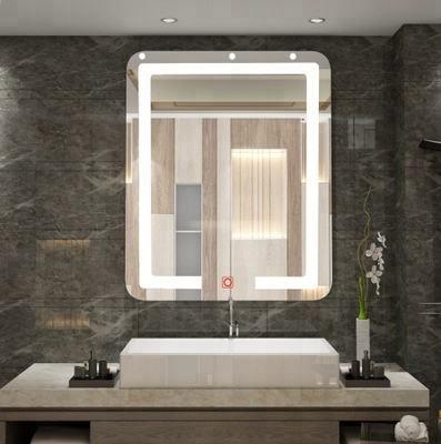дный светодиодная подсветка Анти-туман с подогревом функция зеркало для бритья для ванной с сенсорным переключателем