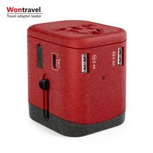 Multi Plug Mobile Phone Accessories travel adapter 4 Usb 4.5A Type C Wall Charger Universial adaptor  Promotional Gift