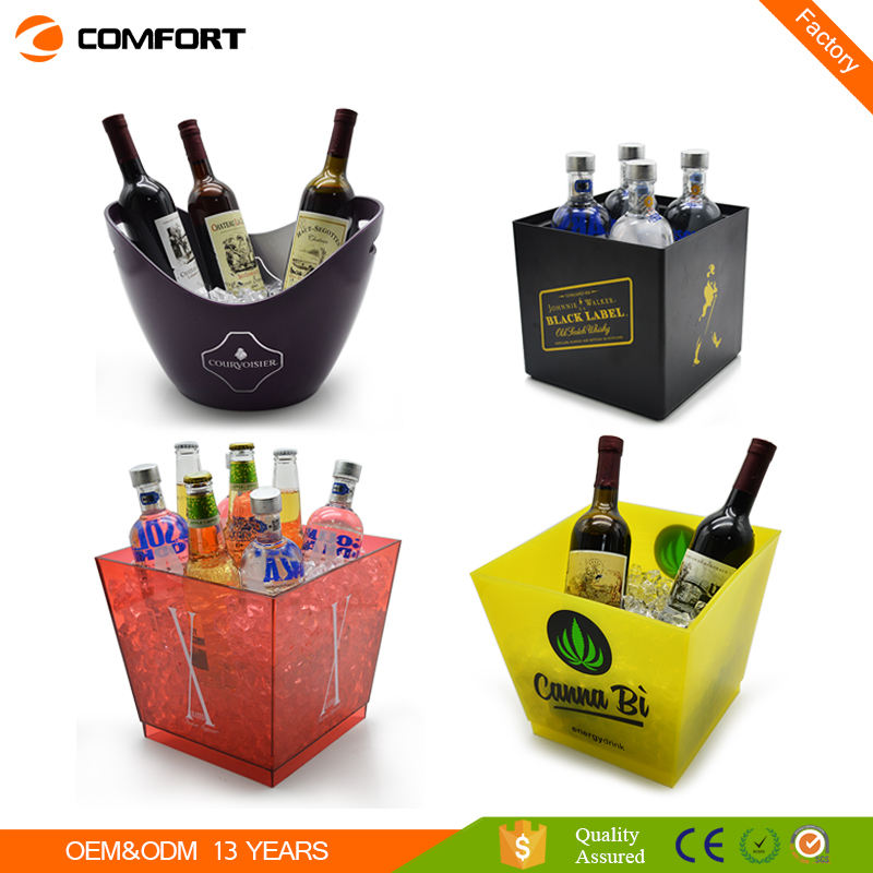 Plastic round ice bucket with cheap price made in china