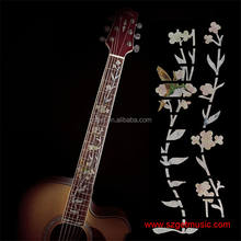 Guitar Inlay Stickers Elegant White Shell Flowers Guitarra Fretboard Decals/ Markers For Guitar Fret Neck