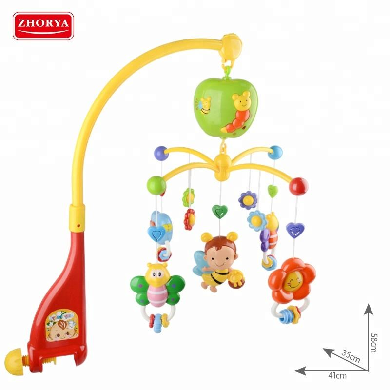 Spin Follow Electric Hanging Sleep Hanging Toy Baby Musical Mobile Bed Crib Bell For Sale
