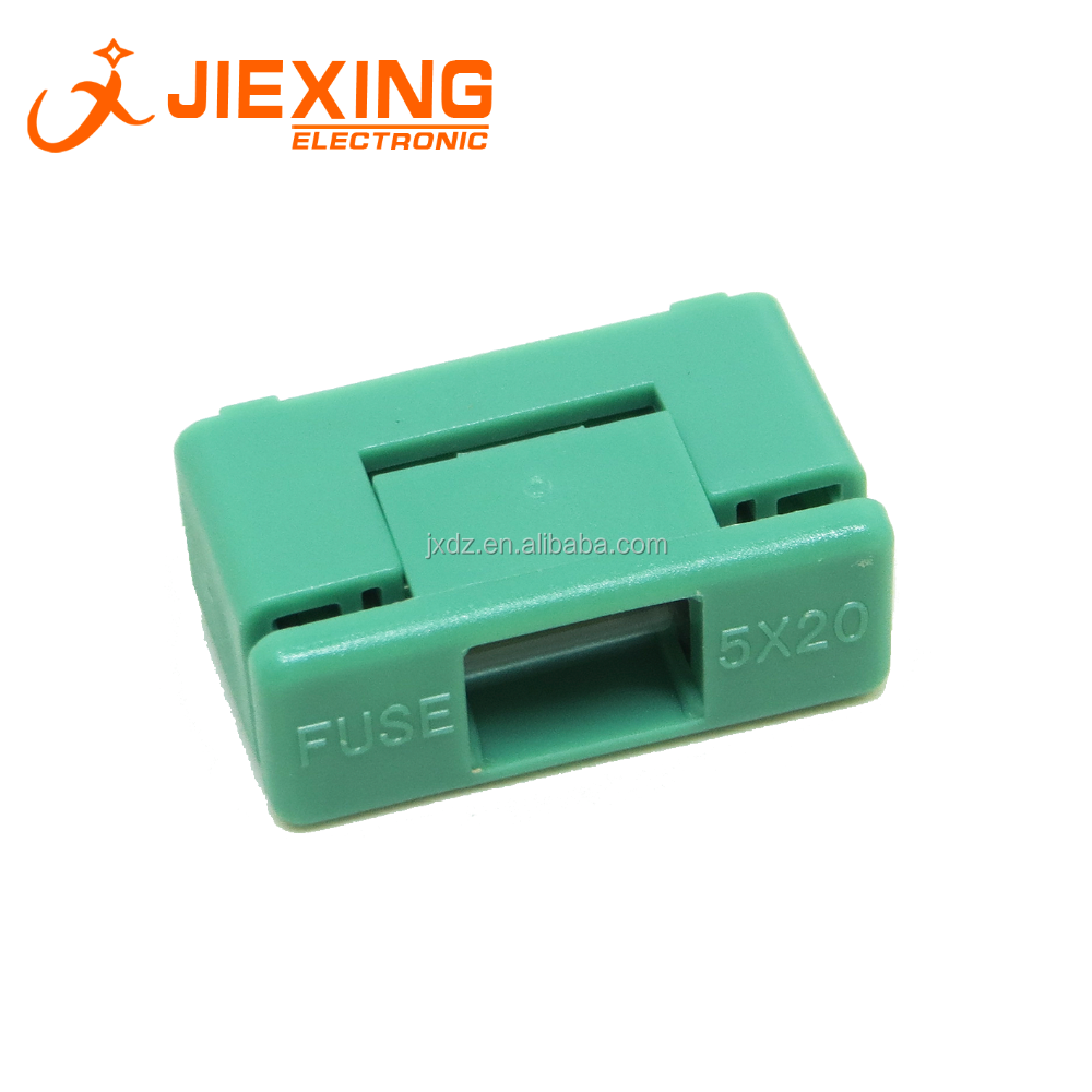 5*20mm Fuse Holder With Cover 15mm Pin Pitch PCB Mount Green Color Fuse Slot 5x20mm BF-012