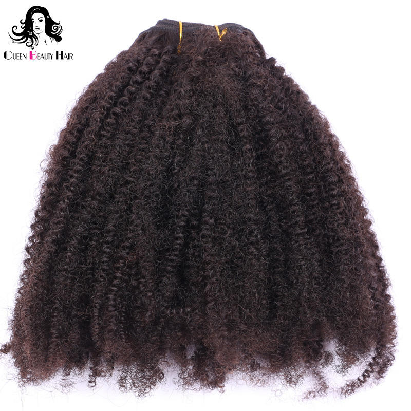 Grade 9A Brazilian Human Hair Extension Natural Black 4c Afro Kinky Curly Hair