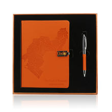 A5 PU Leather Notebook Pen Card Holder and USB Business Gift Sets  custom notebook planner journal to personalize