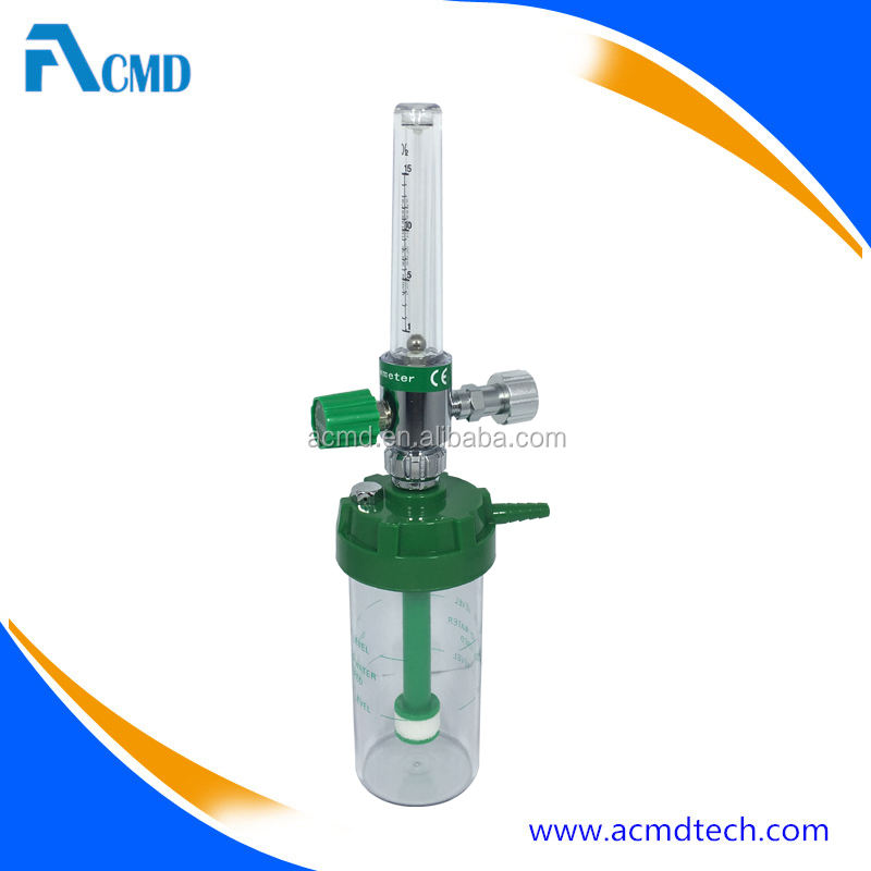 Single Oxygen Flow Meter With Humidifier for Ambulance