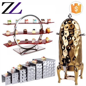 Catering material and supply hammered stainless steel buffet server elevation buffet food display stand
