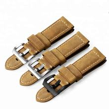 22mm 24mm 26mm Assolutamente Genuine Leather Watch Band with Pre-v Buckle Watch Strap for Panerai