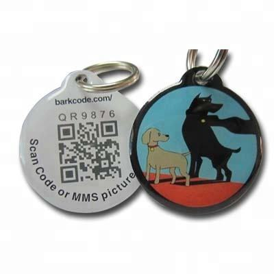 Low price custom printing pet dog individual ID tag