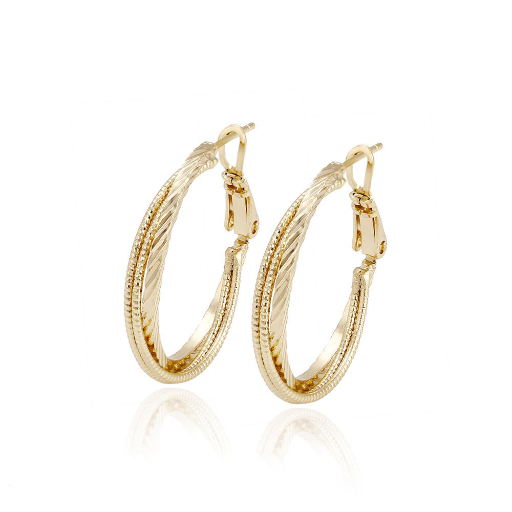 93536 xuping menjuntai earring, 14 k warna emas anting, model emas earring