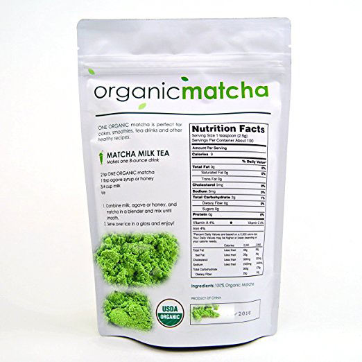 Matcha Green Tea USDA Organic Certified Culinary Grade Powder