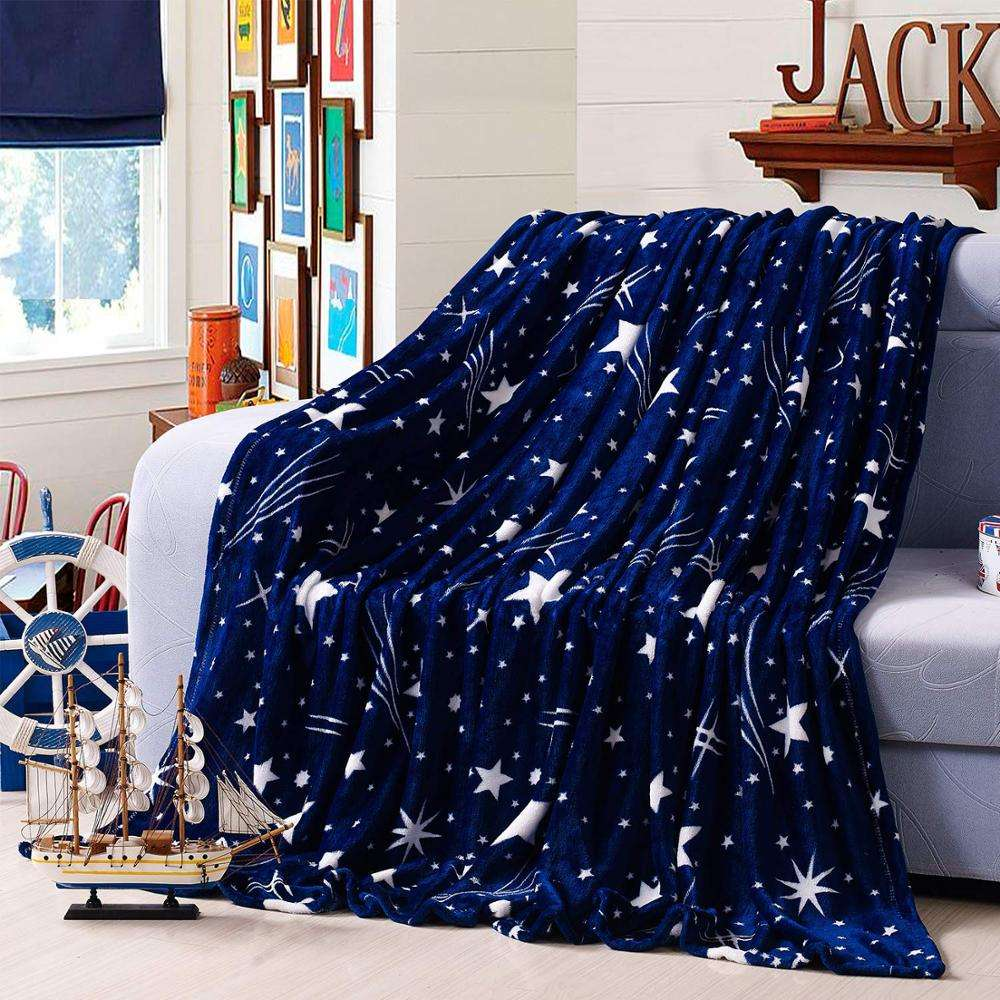 all seasons Flannel Fleece Blanket for Bed, Couch, Car King Size Extra Cozy Soft Plush Microfiber blankets
