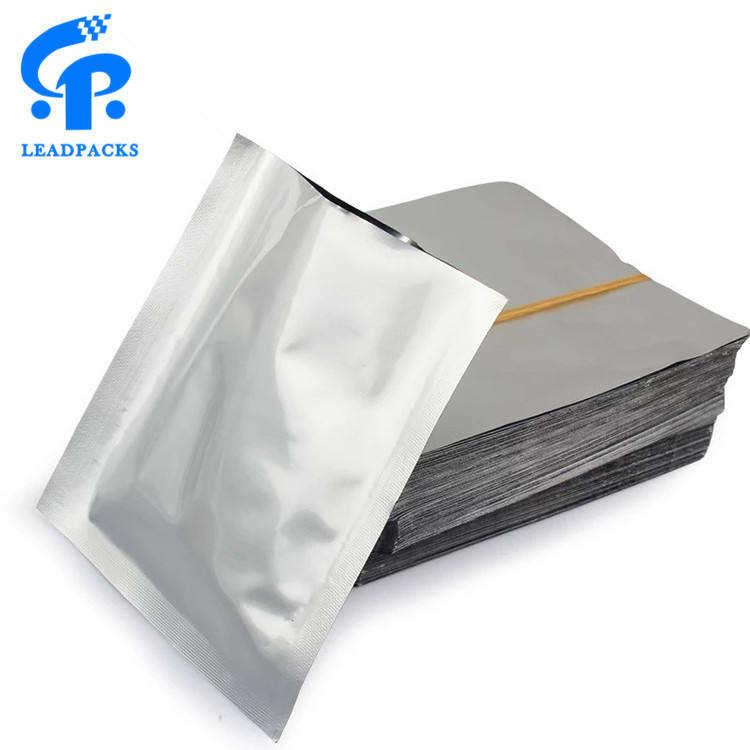 New Come Heat Seal Flat Laminated Aluminum Foil Silver Metalized Vacuum Sealer Food Pack Pouch Bag