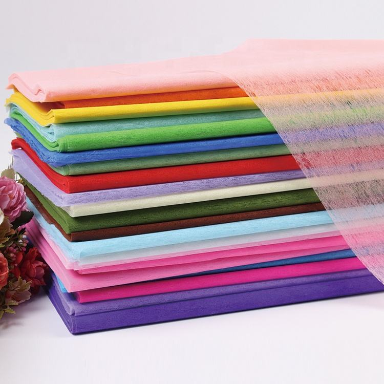 22 Colors Multipurpose DIY Handmade Craft Wrap Paper Gift Bouquet Cotton Tissue Wrapping Paper For Flowers