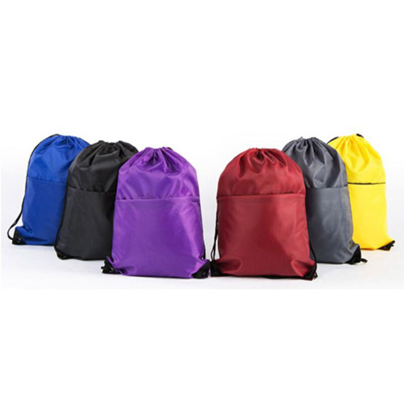 Personalized Promotion 210d Nylon Gym kids Drawstring Backpacks Drawstring Bag